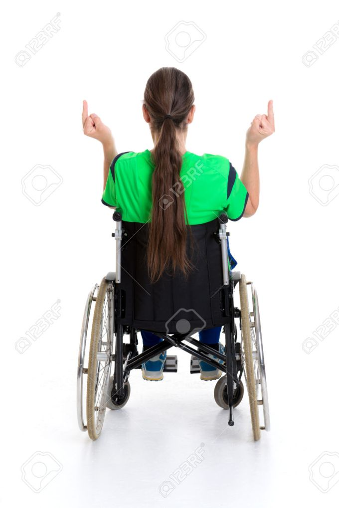 young man in a wheelchair is angry